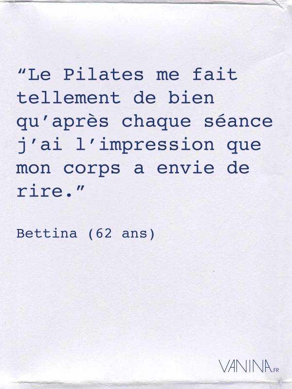 Avis de Bettina concernant la méthode Pilates